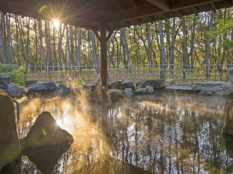 【月読】緑豊かな松林の中に佇む、ミネラル豊富な美人の湯。 リゾートステイとともに、爽やかな湯浴みをお楽しみください
