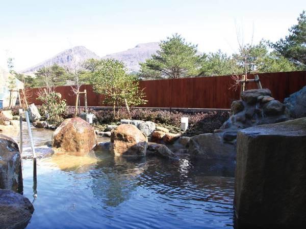 【露天風呂】韓国岳を望む