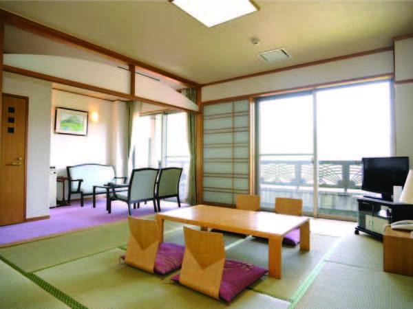 【客室/例】10畳+洋間の広々和室へご案内!