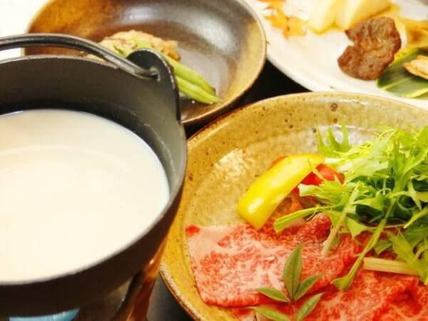 《宮崎牛の豆乳しゃぶしゃぶ》付プラン/一例