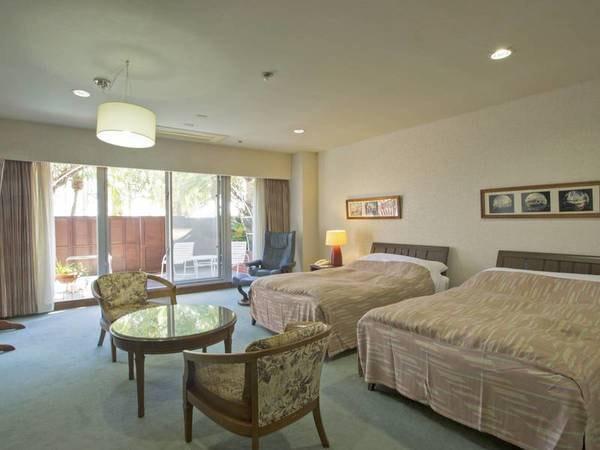 露天風呂付き客室(洋室)/例 カップルやご夫婦におすすめ!ベッドで疲れも癒せる広めのお部屋