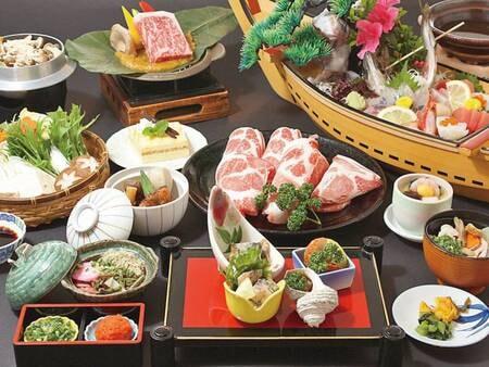 【うまいもん会席/10~2月の例】「鹿児島のうまいもん」にこだわった地元の味を楽しめる会席。