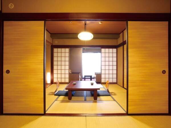 【二間和室/例】54㎡の広さで思い切りくつろげる純和室。