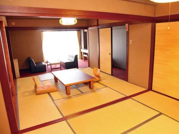 【最上階二間和室/例】最上階の解放感ある54㎡の客室。