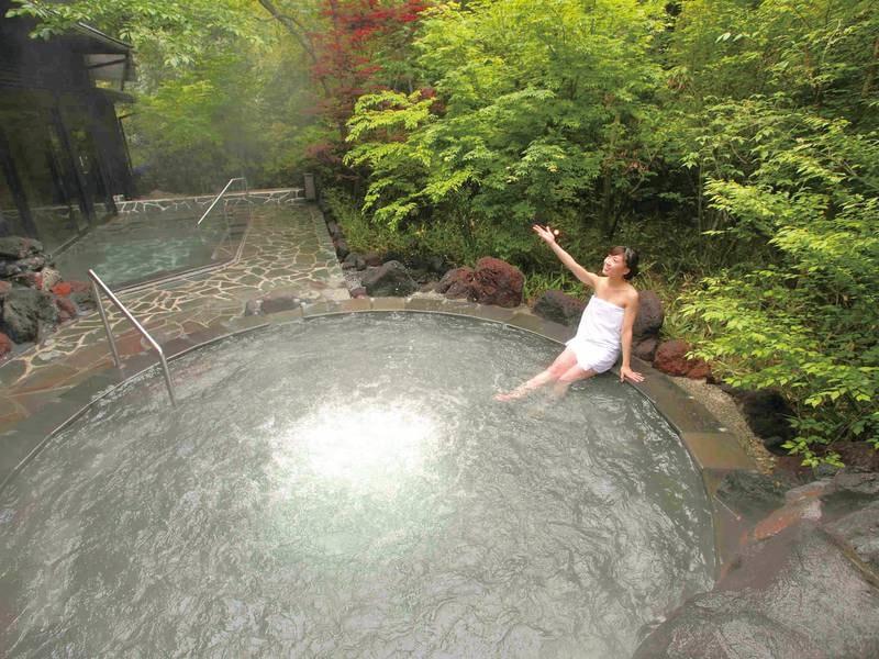 露天風呂/もみじの湯 2020年2月リニューアル!桜島の溶岩を使用したジャグジー露天風呂は高評価!