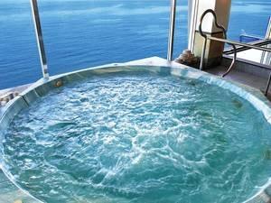 ジャグジー/例 錦江湾を眼下に望むジャグジー風呂!