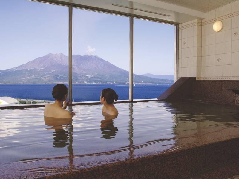 展望温泉 雄大な桜島を眼前に眺めながら温泉に浸かる至福のひと時を