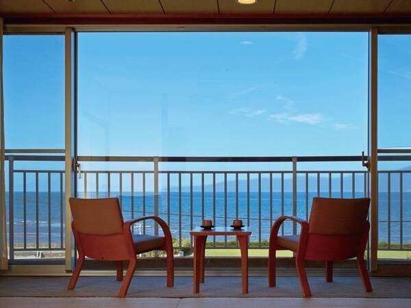眺望/例 全室オーシャンビューであり、朝日がまぶしく良い目覚めと壮大な景色をお愉しみいただけます