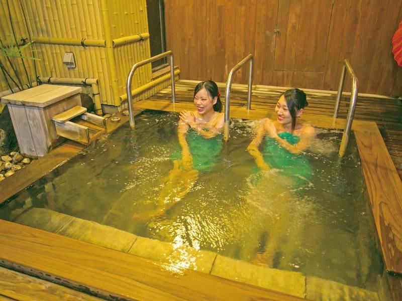 【ジャグジー風呂】露天風呂と朝夕入替制
