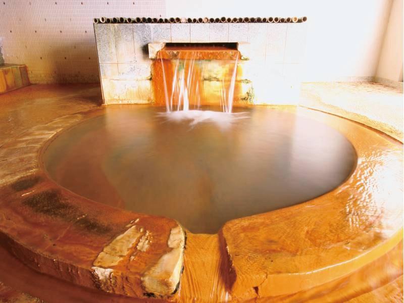 【岩風呂/女湯】にごり湯で昔ながらな湯治場の雰囲気
