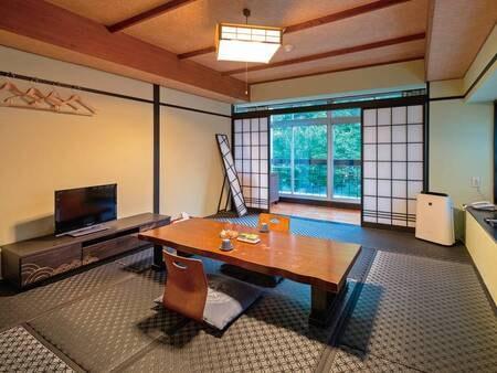 【和室/一例】リニューアル!シックな黒い畳の客室 ※禁煙