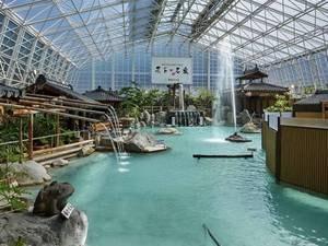 【硫黄谷庭園浴場】迫力のかけ流し天然温泉!