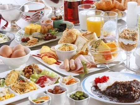 【夢の国】朝食バイキングイメージご朝食はアネックス1階にあるバイキングレストラン「夢の国」にて