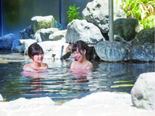 【露天風呂】pH値9.3のまろやかな湯