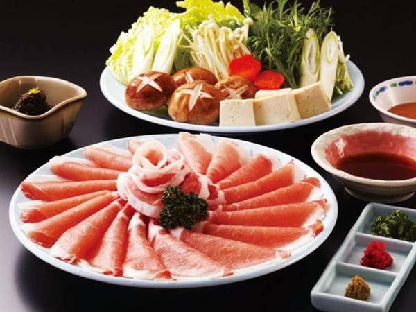 5つのコースから選べる夕食【しゃぶしゃぶコース/例】