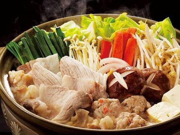 5つのコースから選べる夕食【財宝鍋コース/例】