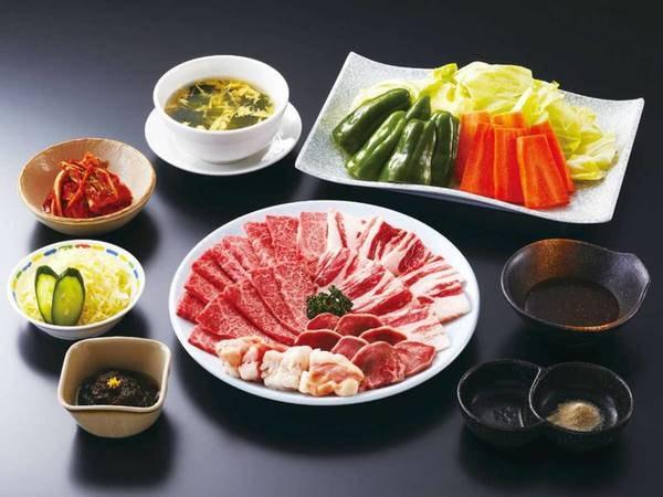 5つのコースから選べる夕食【焼肉コース/例】