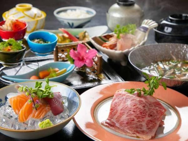 【選べる夕食 季節会席/一例】仕入れや季節等により、メニューの一部や食器等が変わることがあります