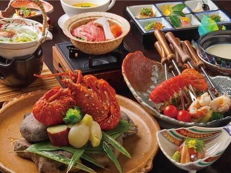 スペシャル会席~チーズフォンデュ添え~ ※写真は一例 仕入れや季節等により、メニューの一部や食器等が変わることがあります
