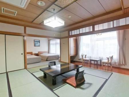 和洋室(ツインベッド+和室12.5畳)/一例