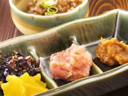 【朝食バイキング/一例】九州の味 辛子明太子/ご飯もすすむオススメの一品!