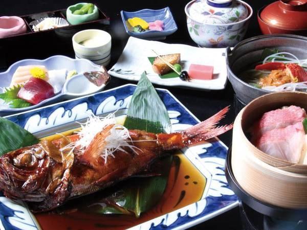 【金目鯛姿煮&源泉蒸し/例】地元の生金目鯛を秘伝のタレで!