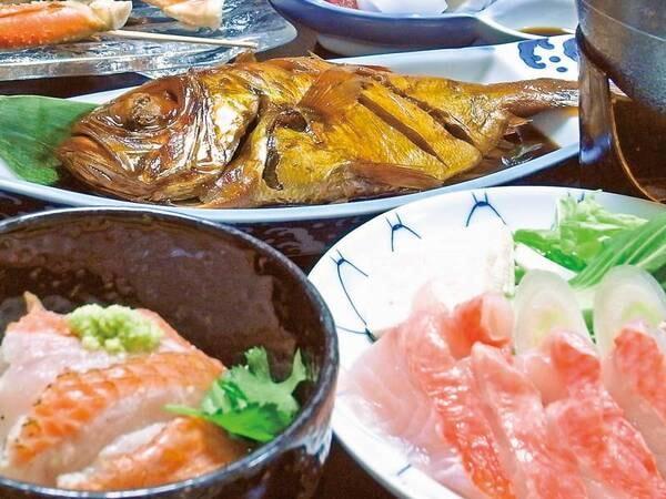 【鮑付[金目鯛3品]伊豆会席/例】生金目鯛のしゃぶしゃぶは絶品の一言!新鮮だからこそ出来る美食