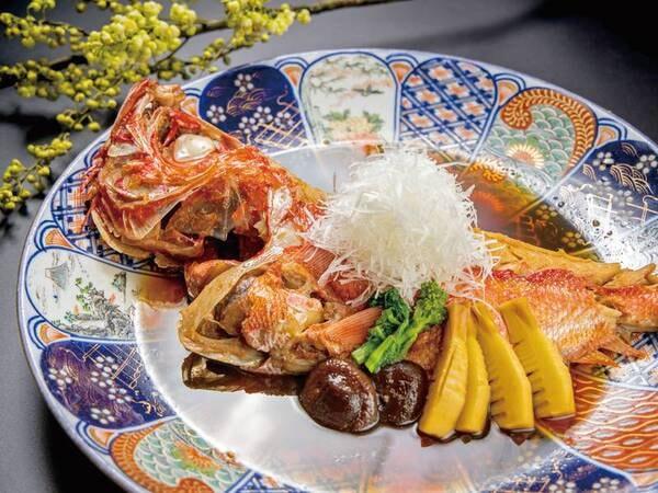 【料理グレードUP!特選牛ステーキ&金目鯛付プラン/例】金目鯛丸一匹姿焚き(2名様で1尾)
