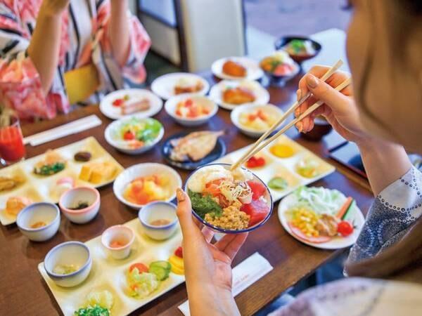 【朝食バイキング/例】定番メニューから独自メニューまで揃う朝食!お腹いっぱい食べていってらっしゃい♪