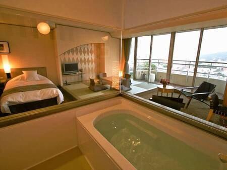 【デラックス和洋室/例】温泉が出るお風呂付き