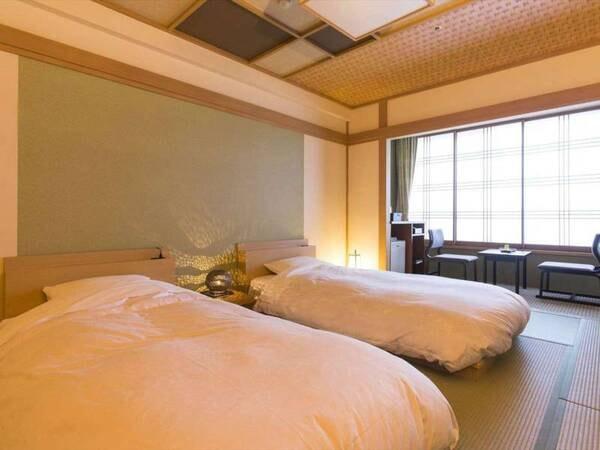 【和室ベッド客室/例】和室にベッド2台が入ったお部屋
