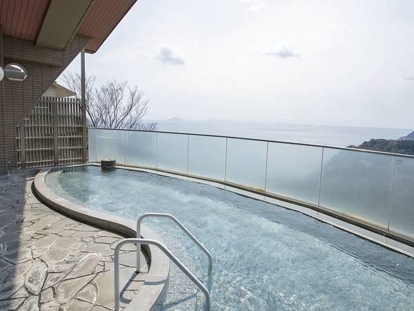 【露天風呂】伊豆五島を一望できる絶景の露天風呂