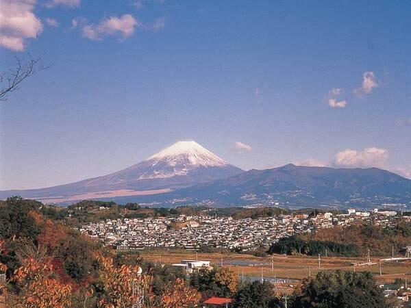 晴れていれば駐車場から富士山も!