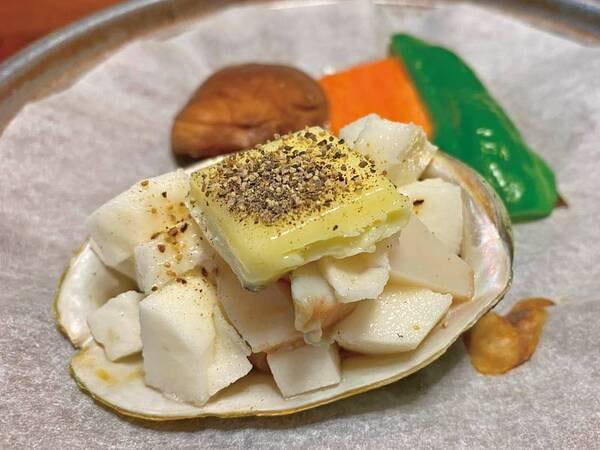【あわび山海焼付き!控えめプラン/例】山芋とあわびのお料理