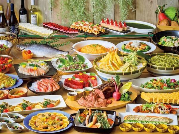 【夕食/例】和洋中ブッフェ!揚げたて天ぷら・できたてグリル料理も