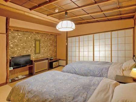 【客室/例】畳の心地よさとベッドの快適さを兼ね備えた和風ベッドルーム