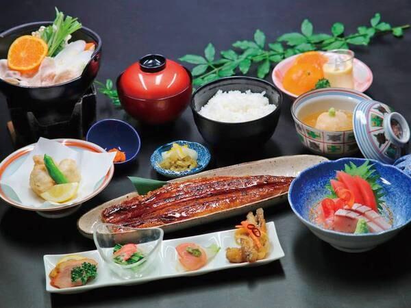 【国産鰻の長蒲焼き膳/例】