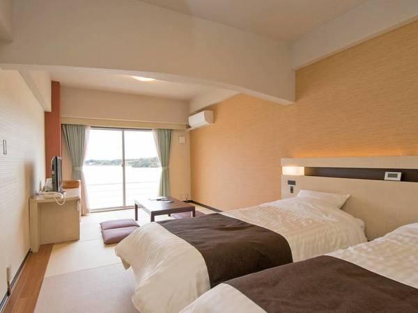 【リニューアル和モダン客室/例】全室禁煙・シモンズ製ベッドを設えた人気の客室!