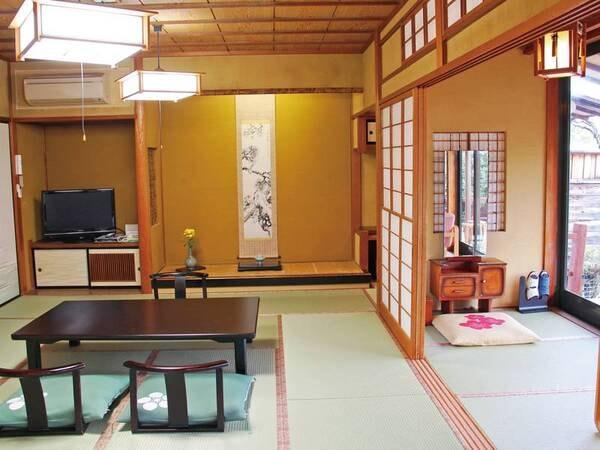 【月見台客室/例】お部屋ごとに異なる間取り・雰囲気を愉しめる