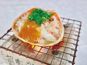 <おすすめオプション>蟹味噌甲羅焼き/例