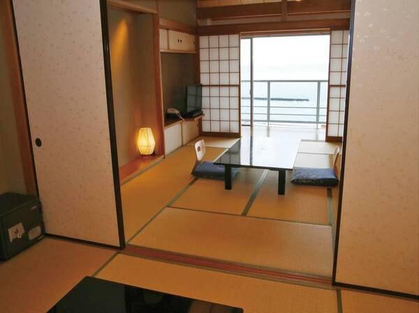 【海側二間和室】駿河湾を望む!47㎡の広々客室♪