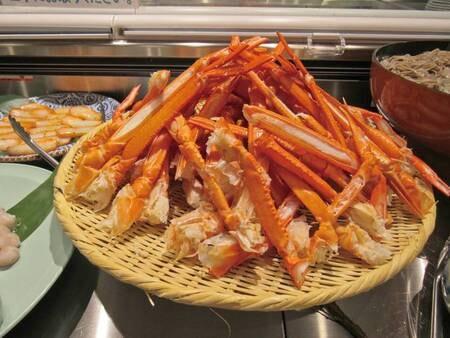 【夕食/例】ずわい蟹も食べ放題