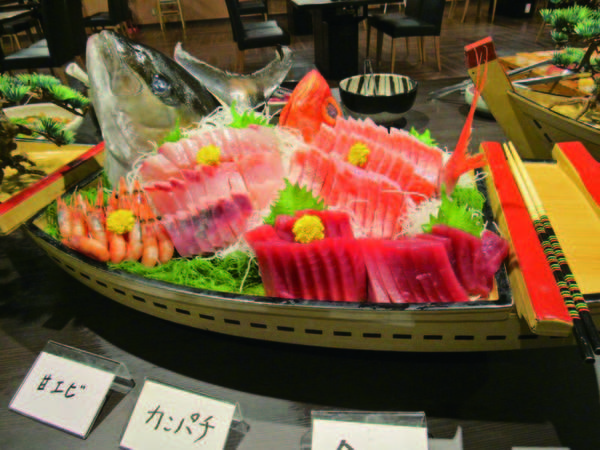 【夕食/例】新鮮なお造りを舟盛りで