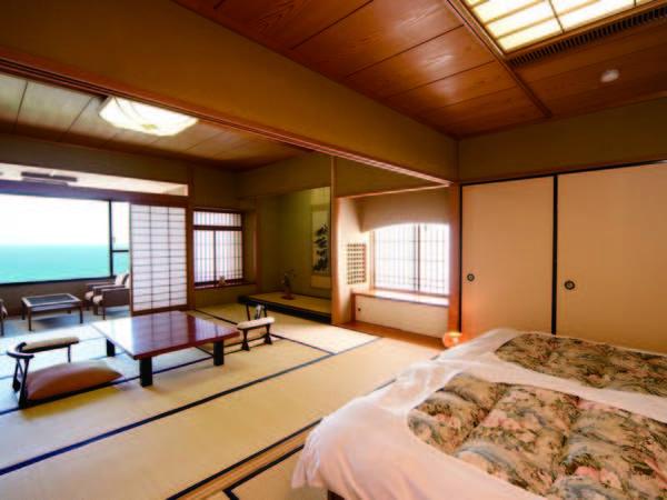 【和風ベッド客室/例】畳で寛げる和室の良さと、ベッドの快適さを兼ね備えた客室