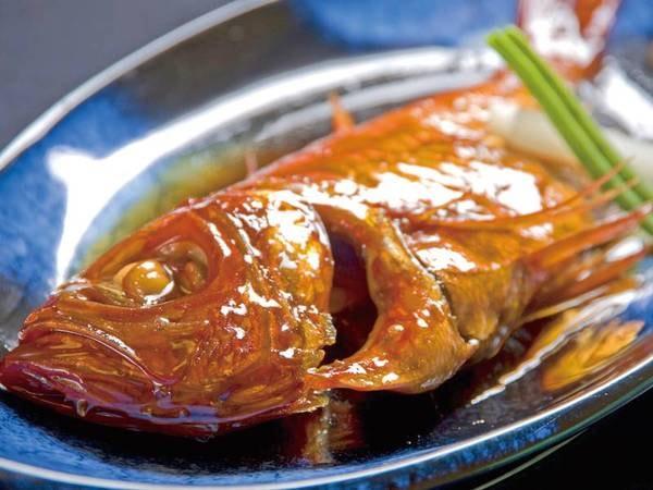 【軽めのお食事「くつろぎ」プラン/例】浜の湯名物「金目鯛の姿煮」