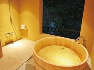 【貸切風呂「蕾」】コンパクトながらも落ち着いた雰囲気を味わえる