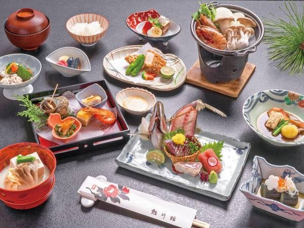 【金目鯛付お得会席/例】クチコミ高評価の会席料理