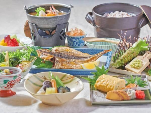 【朝食/例】地元食材を使った郷土の朝ごはん