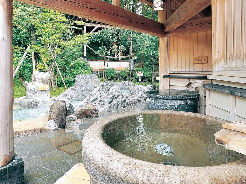 【大浴場・壺風呂】ゆったり一人用の壺風呂