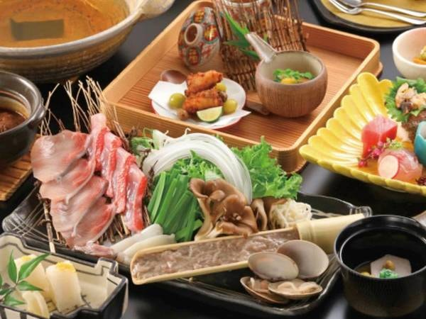 【夕食】 メイン料理を「肉料理」or「海鮮料理」より選択(海鮮料理/例)